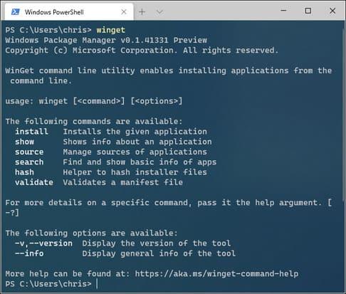 cách sử dụng winget để cài đặt phần mềm từ dòng lệnh windows