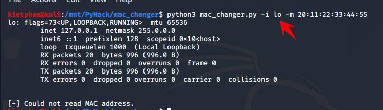 [PyHack] Bài 2: Kiểm tra MAC mà người dùng đã đổi xem đúng không 52