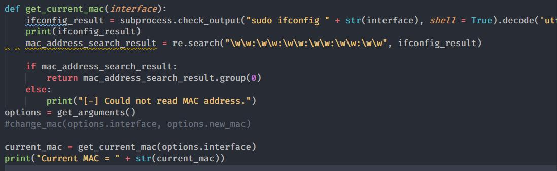[PyHack] Bài 2: Kiểm tra MAC mà người dùng đã đổi xem đúng không 53