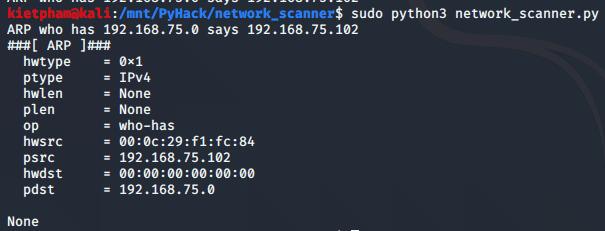 [PyHack] Bài 3: Network Scanner - Quét thông tin mạng 140