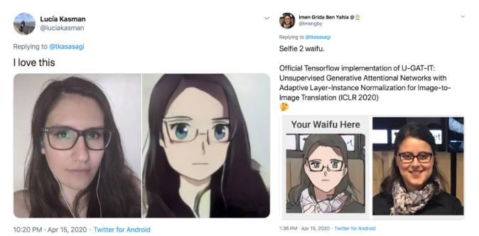 Selfie 2 Waifu chuyển ảnh anime