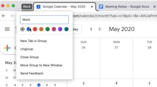 Nhóm các Tab lại thành một Group Google Chrome 83
