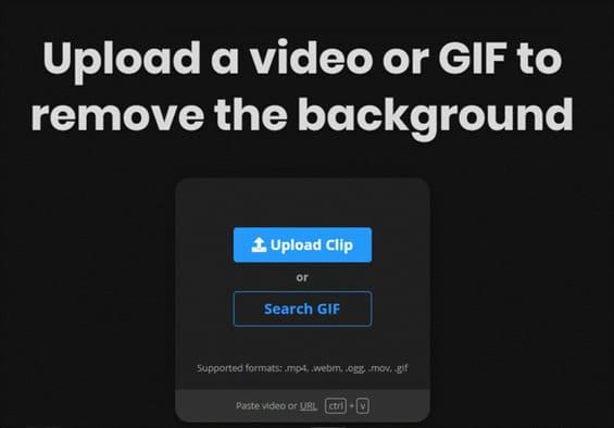 upload video lên Unscreen để xóa phông nền
