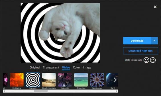 thay đổi phông nền của video bằng unscreen