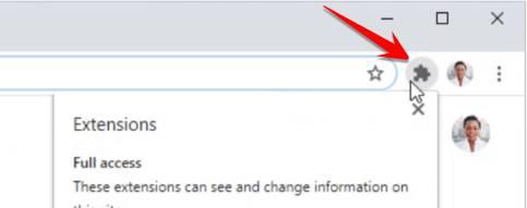 Đã có nút Extension Chrome 83