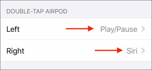 chỉnh chạm 2 lần airpods