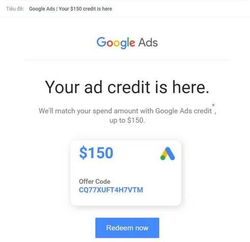 get 150$ Google Ads coupon free