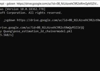 dùng gdown để download file từ google drive trên linux