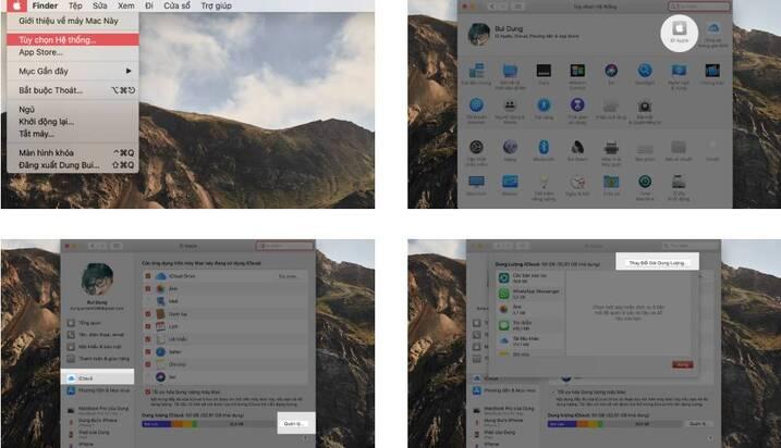 Hủy gia hạn iCloud trên MAC trừ tiền