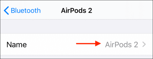 change name airpods