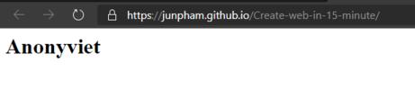 thiết kế web bằng github page