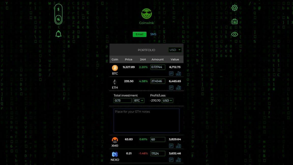 code Website matrix