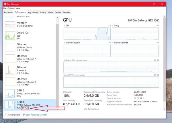 nhiệt độ GPU bao nhiêu là được