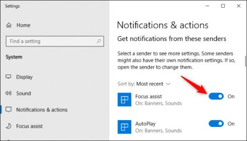 Cách di chuyển hoặc tắt cửa sổ thông báo trên Windows 10 10