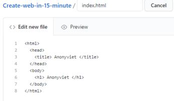 Cách tạo Website bằng Github đơn giản trong 15 phút 19