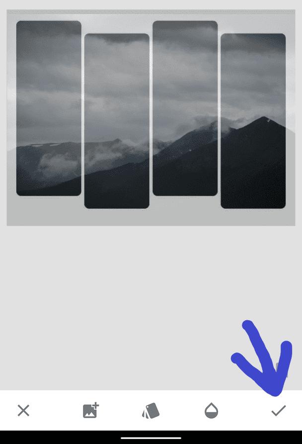 hướng dẫn tạo ảnh chèn vào khung hình 4 cột