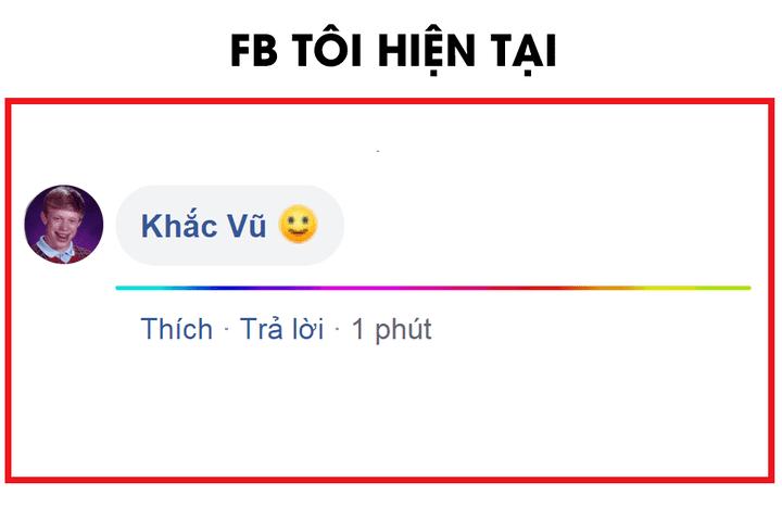 Cách comment đường kẻ 7 màu trên Facebook 10