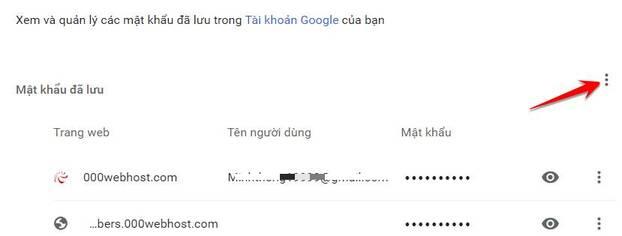 Cách thêm và xuất mật khẩu đã lưu trên trình duyệt Chrome 5