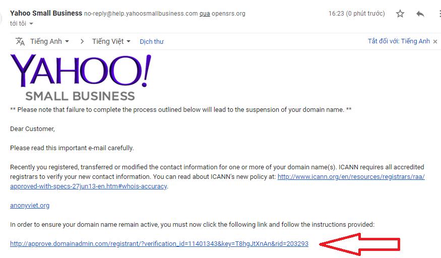 Đăng Ký Domain .COM . NET .ORG Free 1 Năm Với Giá 0đ Của Yahoo Small Business 63