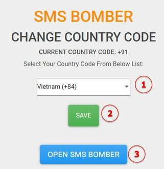 Spam SMS bằng SMS BOMBER trên MYTOOLSTOWN