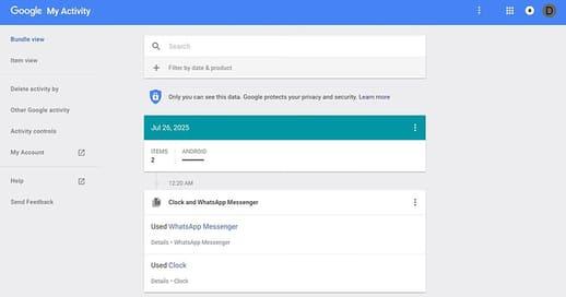 kiểm tra thông tin của bạn trên google