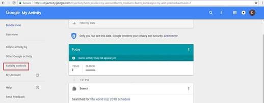 Vô hiệu hoá lịch sử Google