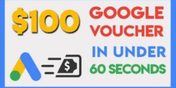 voucher coupon google ads