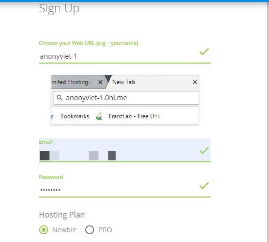 link đăng ký hosting miễn phí của 0hi