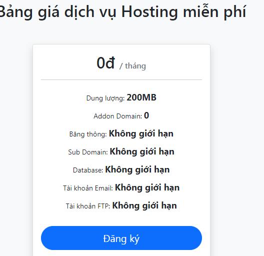 link đăng ký Hosting miễn phí tại 123host.vn