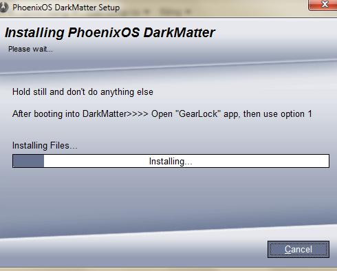 Cài đặt Hệ Điều Hành Phoenix Os Dark Matter Định Dạng NTFS 74