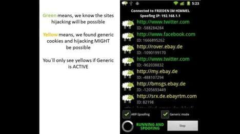 Droidsheep ứng dụng hack trên android