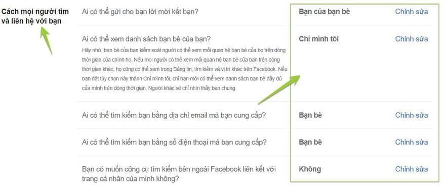ẩn thông tin cá nhân Facebook