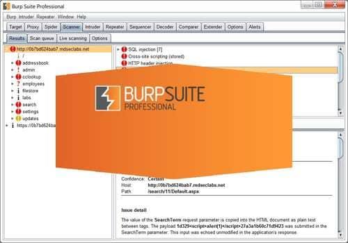 phần mềm hack Burp Suite