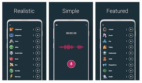 Voice Changer – Audio Effects phần mềm thay đổi giọng nói android tốt nhất
