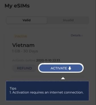 Active eSIM