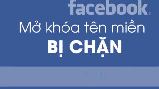 tên miền bị facebook chặn