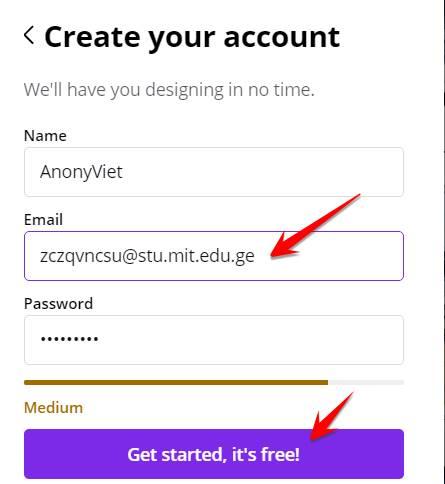 tạo tài khoản canva education miễn phí