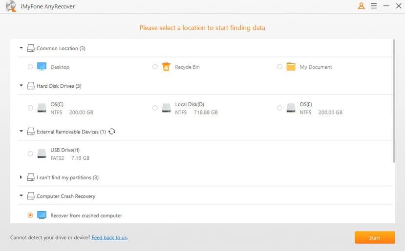 iMyFone AnyRecover: Khôi phục dữ liệu bị xóa trên Windows thành công 100%