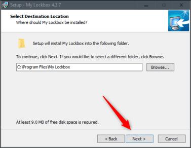 cài đặt My Lockbox khóa phần mềm bằng mật khẩu