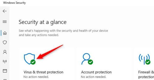 Virus & threat protection