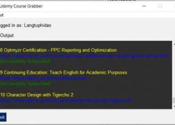 cách sử dụng Udemy Course Grabber