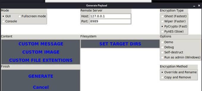 Hướng dẫn tạo virus Ransomware tống tiền bằng RAASNet 5