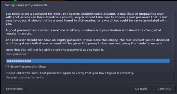 Password cho User của tài khoản parrot