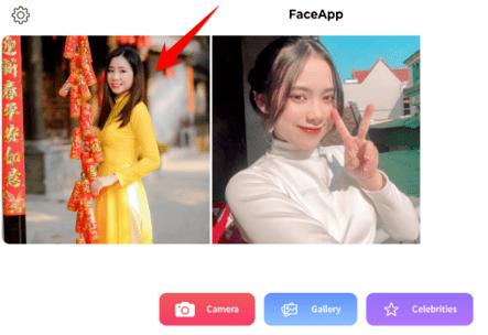 dùng faceapp ghép ảnh áo dài