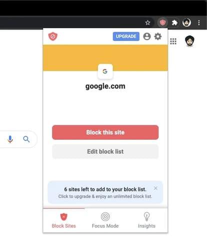 Block this site