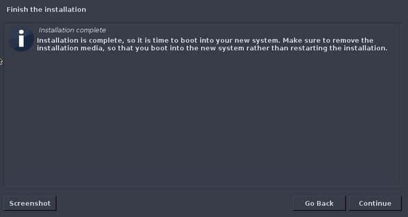 cài đặt hoàn tất Parrot Security OS trên máy tính