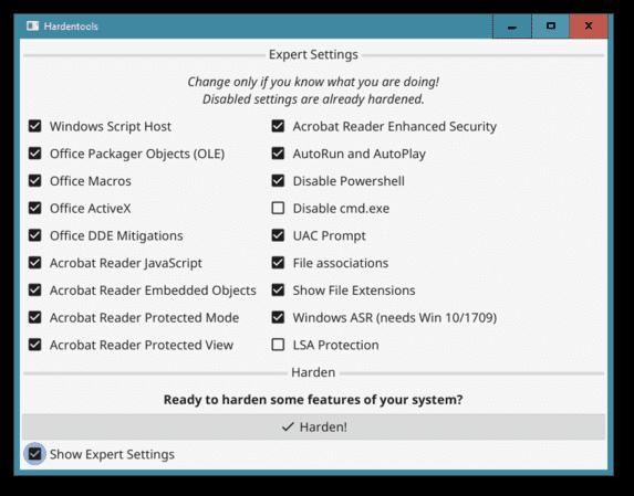 Hardentools: công cụ giúp vô hiệu hóa các tính năng nguy hiểm trên Windows 21