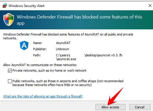 Allow Access Firewall