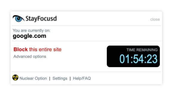 chan website de hoc tap StayFocusd