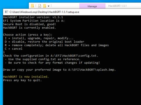 đổi Logo khởi động Windows HackBGRT